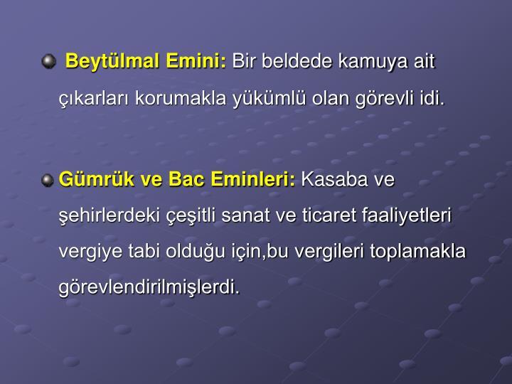Beytülmal Emini: