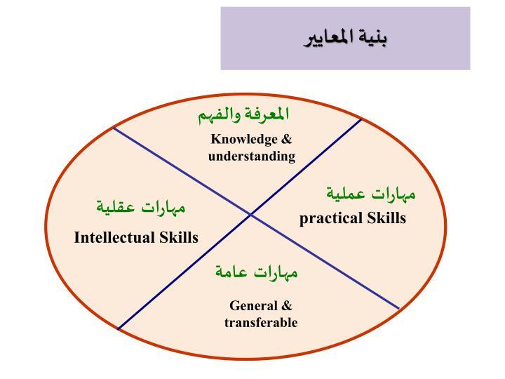 بنية المعايير