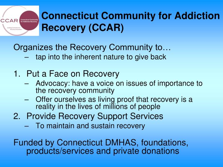 Connecticut Community for Addiction Recovery (CCAR)