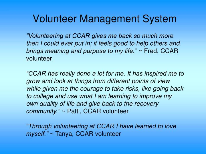 Volunteer Management System