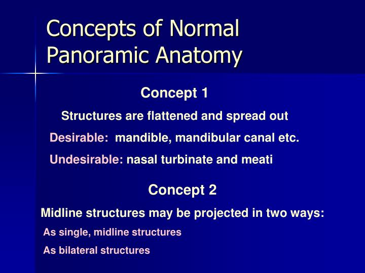 Concepts of Normal Panoramic Anatomy