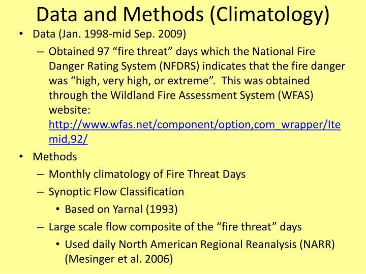 Data and Methods (Climatology)