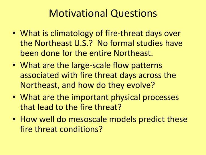 Motivational Questions