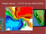 radial velocity 15 utc 04 jan 2008 kdax
