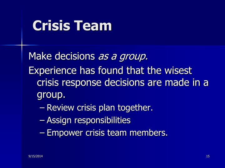 Crisis Team