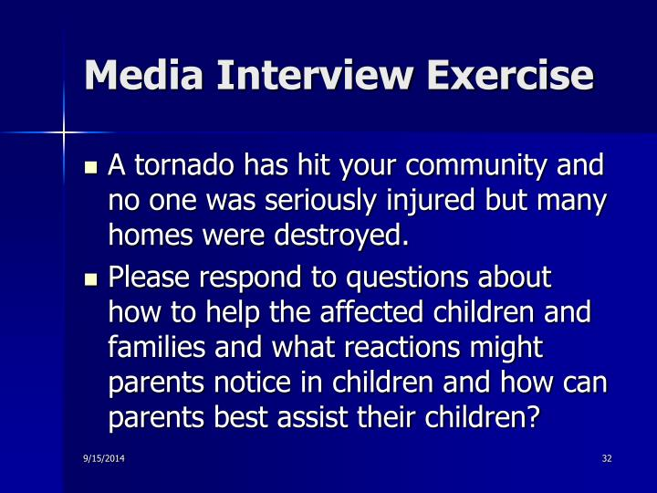 Media Interview Exercise