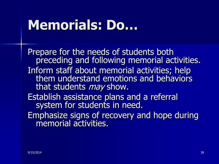 Memorials: Do…