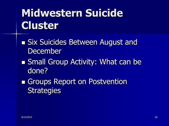 Midwestern Suicide Cluster