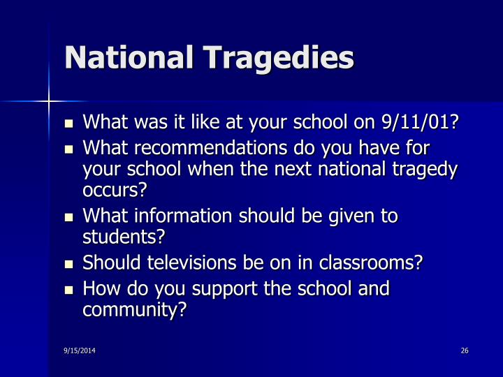 National Tragedies
