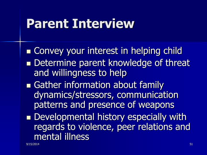 Parent Interview