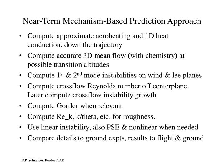 Near-Term Mechanism-Based Prediction Approach