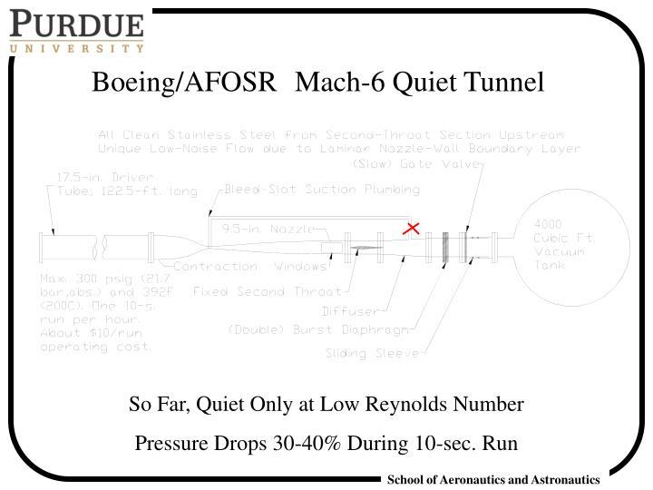 Boeing/AFOSR Mach-6 Quiet Tunnel