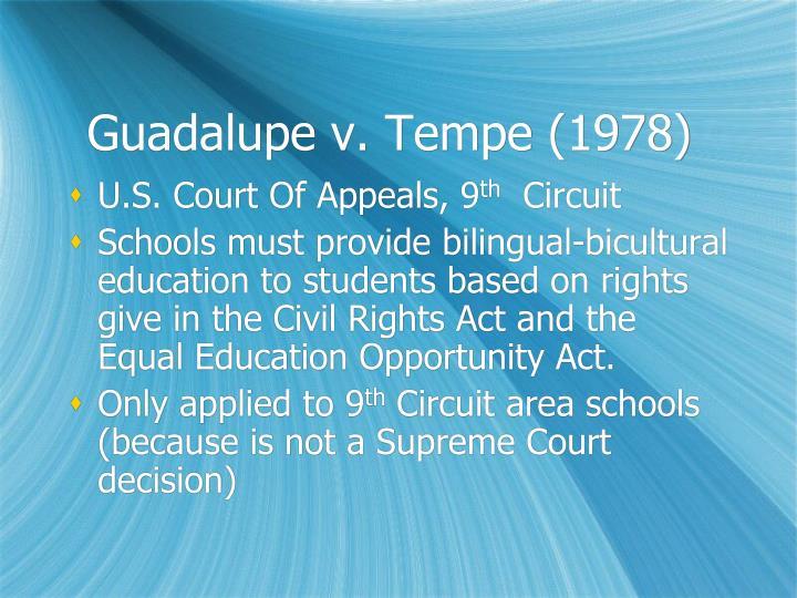 Guadalupe v. Tempe (1978)
