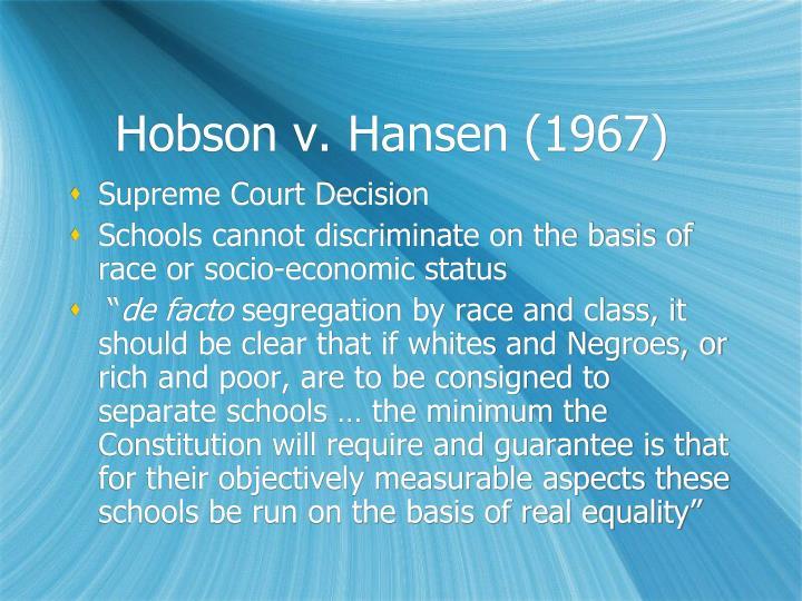 Hobson v. Hansen (1967)