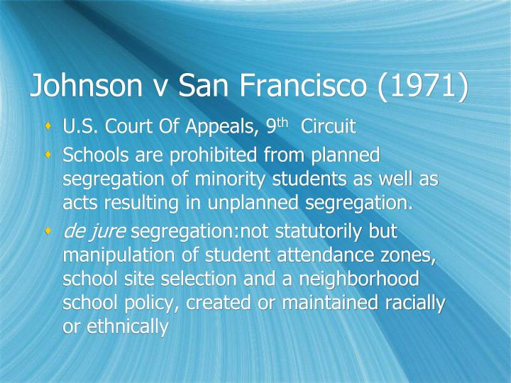 Johnson v San Francisco (1971)