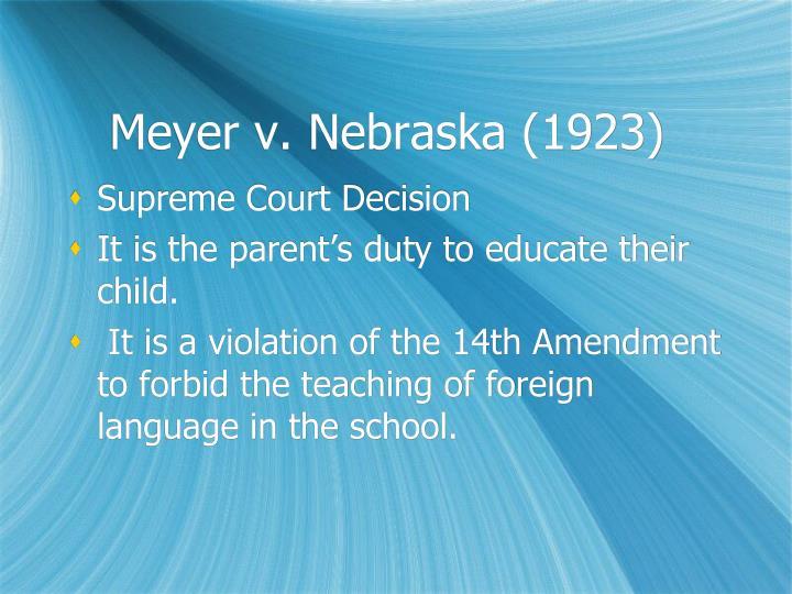Meyer v. Nebraska (1923)