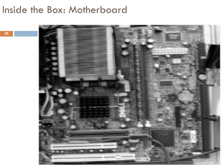 Inside the Box: Motherboard