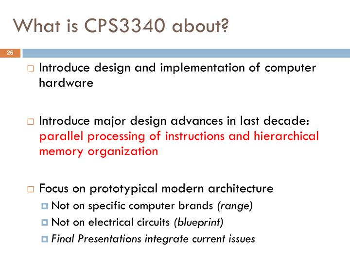 What is CPS3340 about?