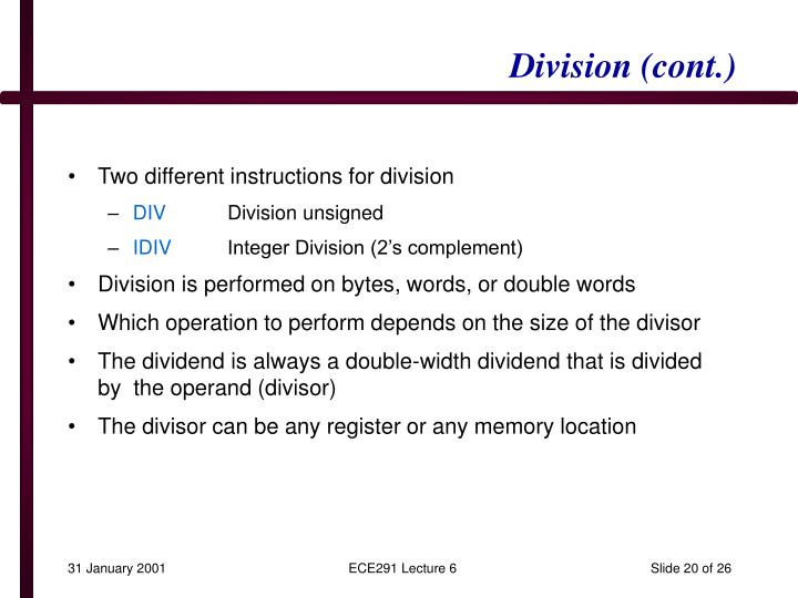 Division (cont.)