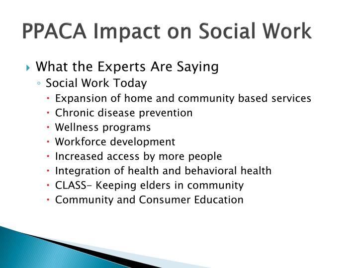 PPACA Impact on Social Work