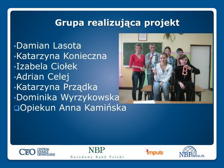 Grupa realizująca projekt