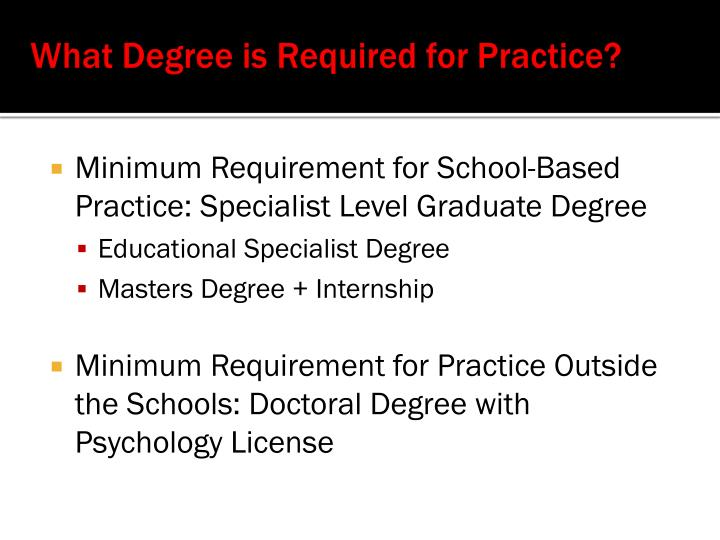 What Degree is Required for Practice?