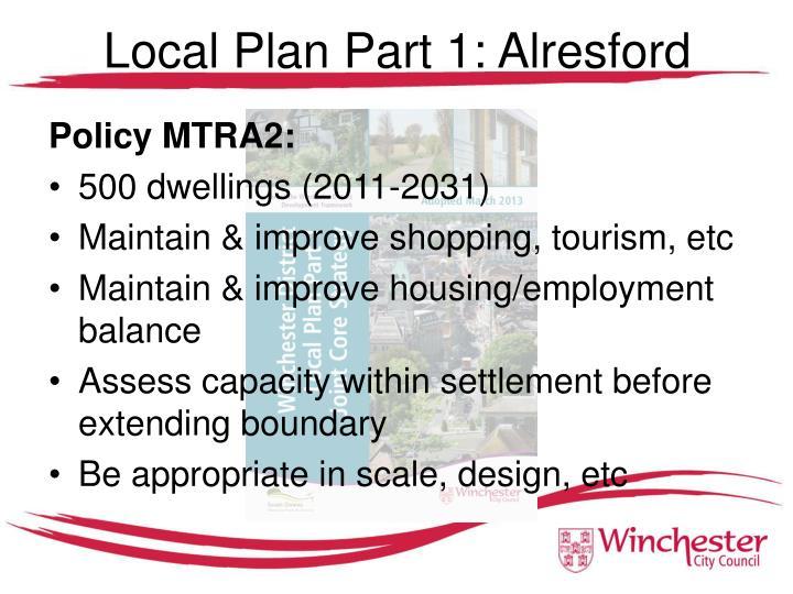 Local Plan Part 1: Alresford