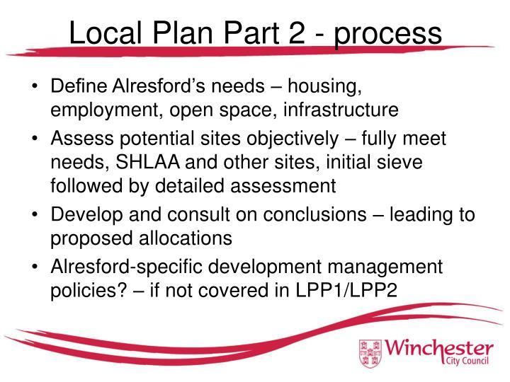 Local Plan Part 2 - process