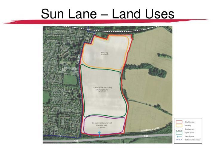 Sun Lane – Land Uses