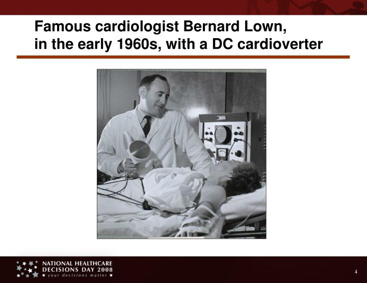 Famous cardiologist Bernard Lown,