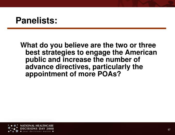 Panelists: