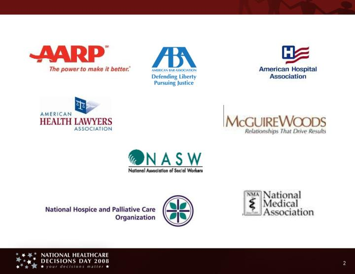 National healthcare decisions day 2008 the law the talk and the care