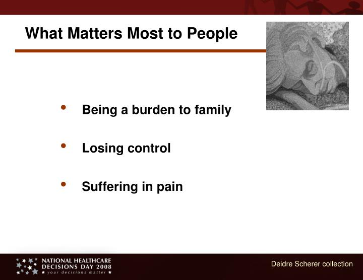 What Matters Most to People