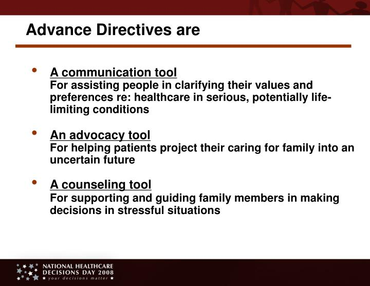 Advance Directives are