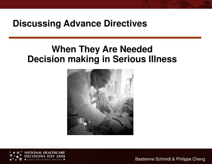 Discussing Advance Directives
