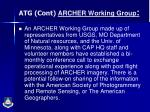 atg cont archer working group