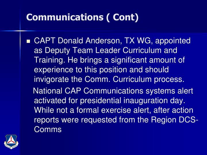 Communications ( Cont)