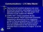 communications ltc mike marek