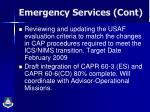 emergency services cont