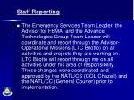 staff reporting