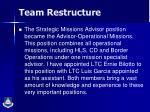 team restructure