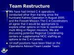 team restructure2