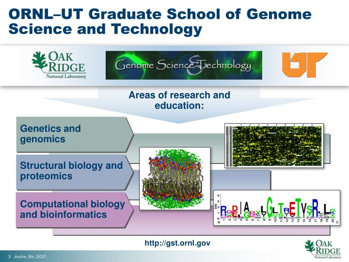 Ornl ut graduate school of genome science and technology