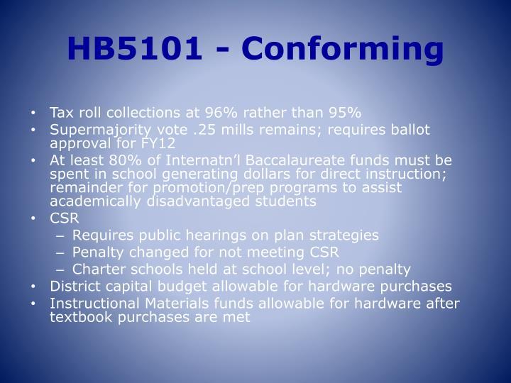 HB5101 - Conforming