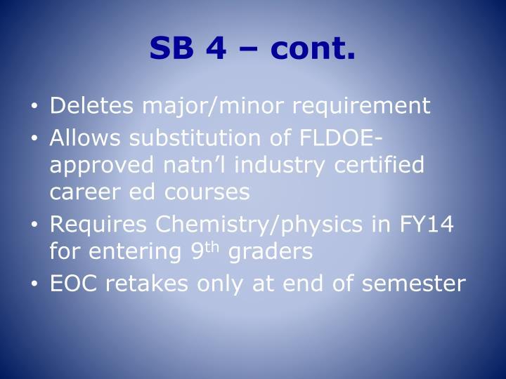 SB 4 – cont.