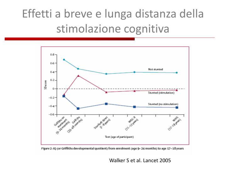 Effetti a breve e lunga distanza della stimolazione cognitiva