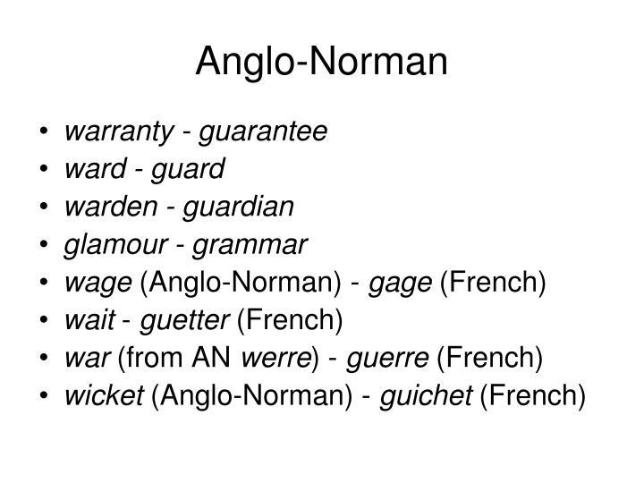 Anglo-Norman