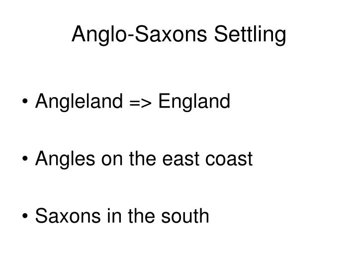 Anglo-Saxons Settling