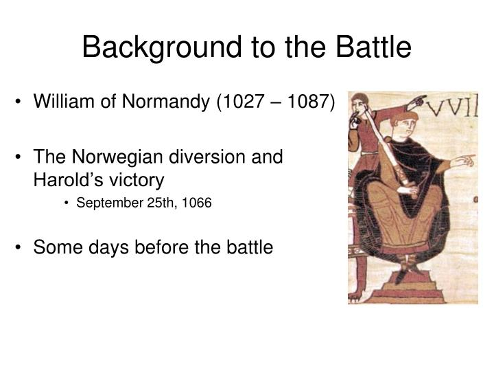 Background to the Battle