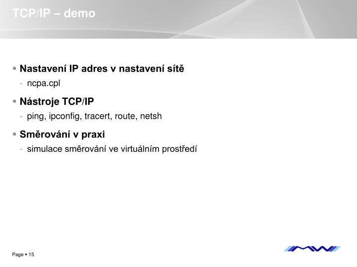 TCP/IP – demo